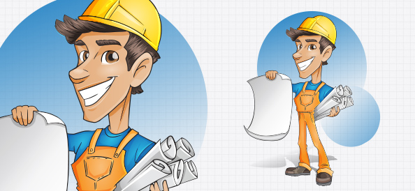 Builder Vector Character