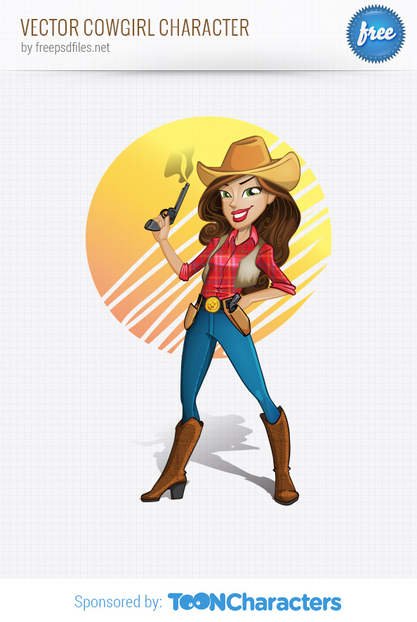Vector Cowgirl Character