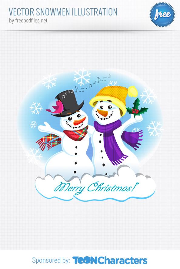 Vector Snowmen Illustration
