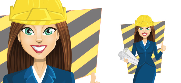 Vector Construction Girl