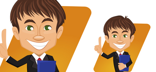 Vector Businessman with Folder