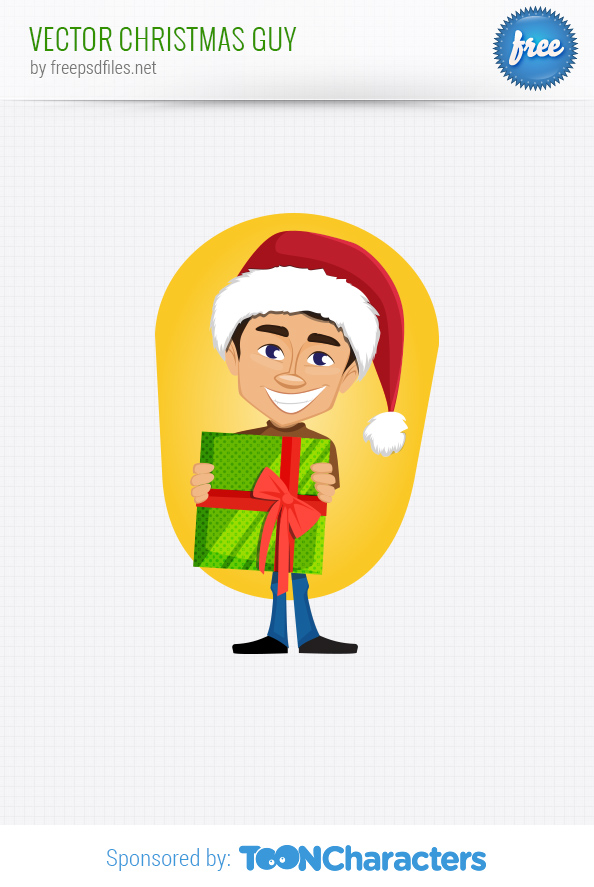 Vector Christmas Guy
