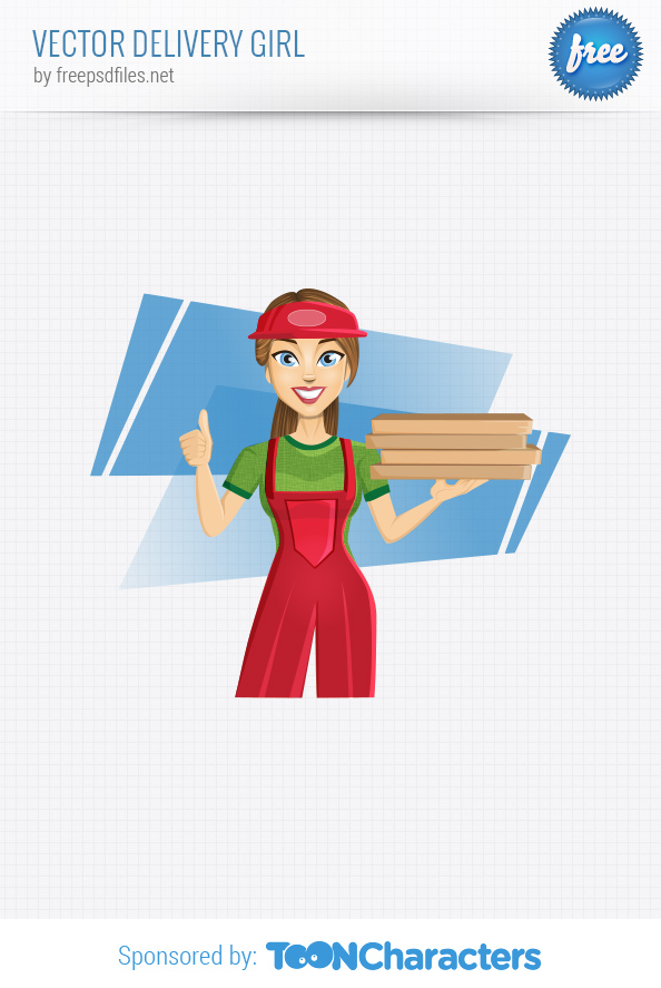Vector Delivery Girl