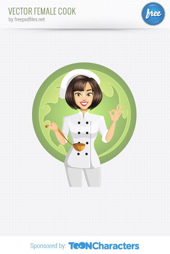 Vector Female Cook
