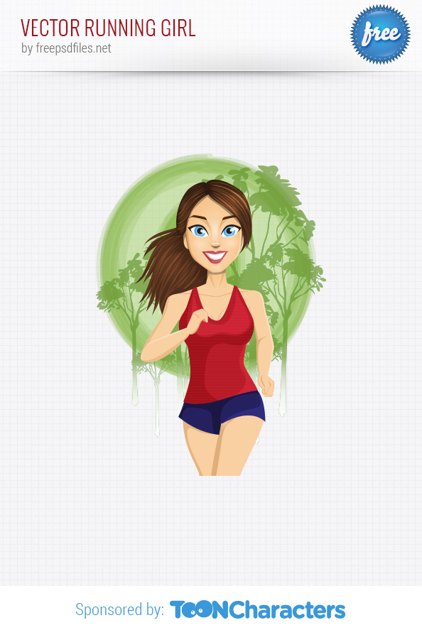 Vector Running Girl