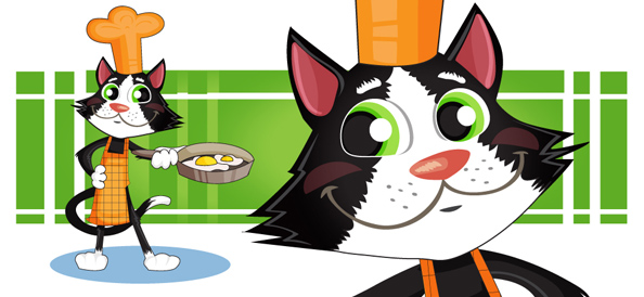 Vector Cat Cook