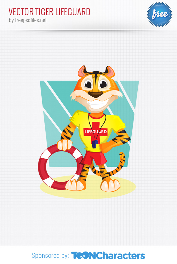 Vector Tiger Lifeguard