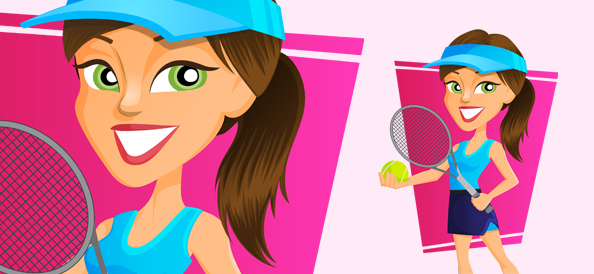 Vector Tennis Girl