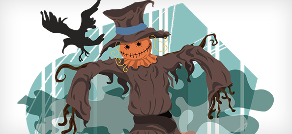 Halloween Scarecrow Vector Illustration