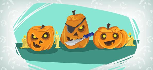 Vector Halloween Pumpkins Illustration