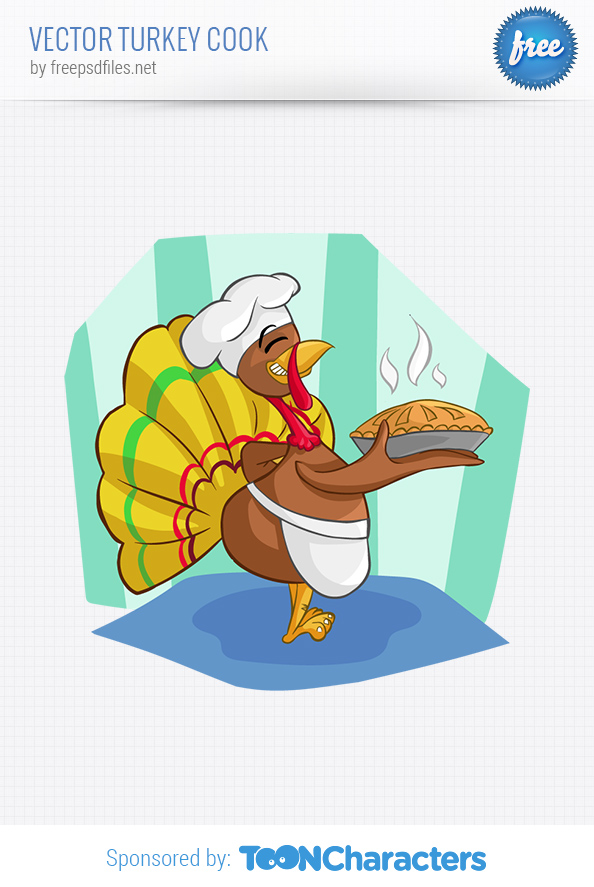 Vector Turkey Cook