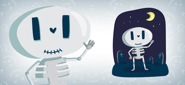 Cute Skeleton Vector Character