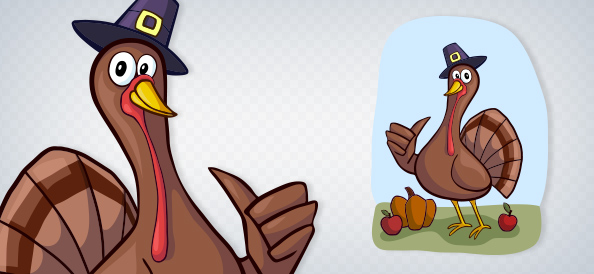Vector Thumbs Up Turkey