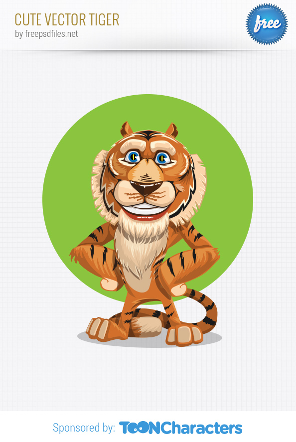 Cute vector tiger Preview