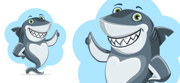 Cute Vector Shark character