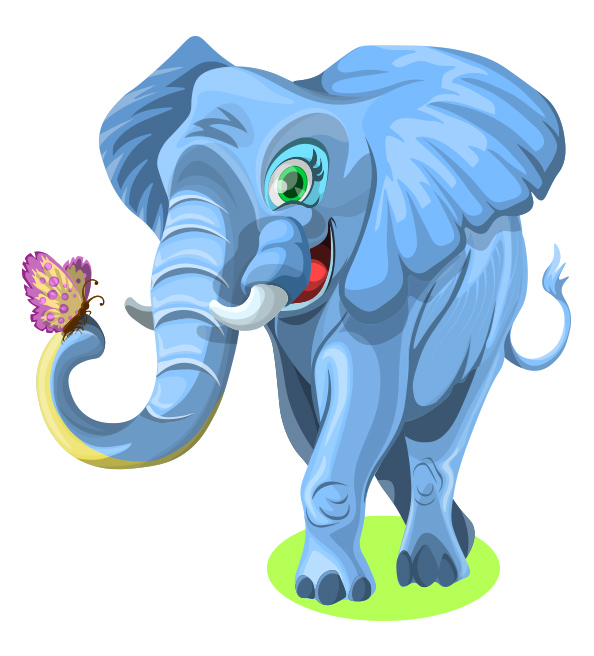 Free Cute Elephant Character