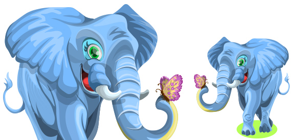 Free Cute Elephant Character