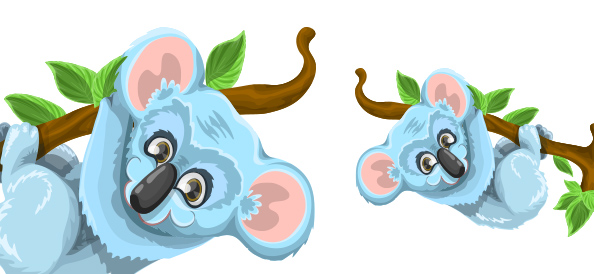 Cute Free Vector Koala Character