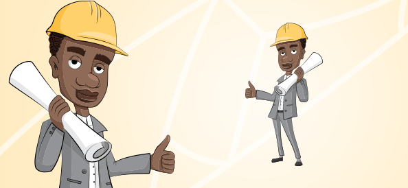 Afro American Guy with a Yellow Helmet