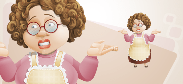 Chubby Housewife Illustration