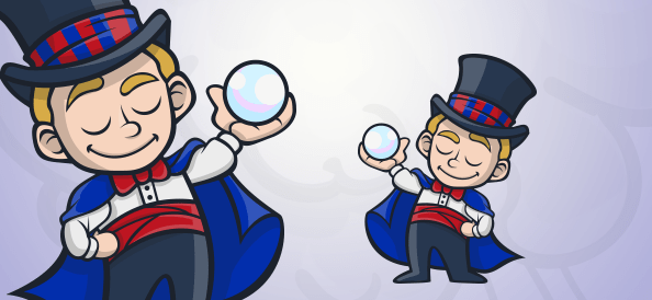 Kid Magician With a Crystal Ball