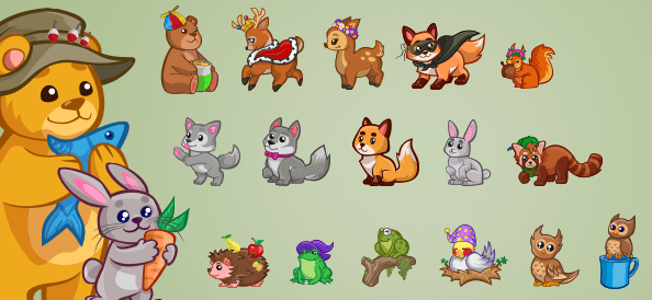 Vector Forest Animals