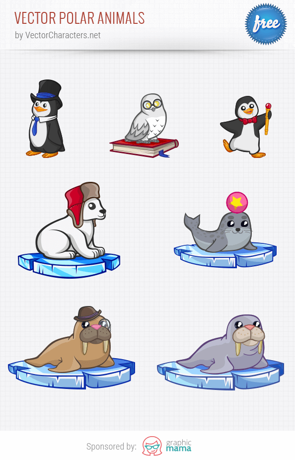 Vector Polar Animals