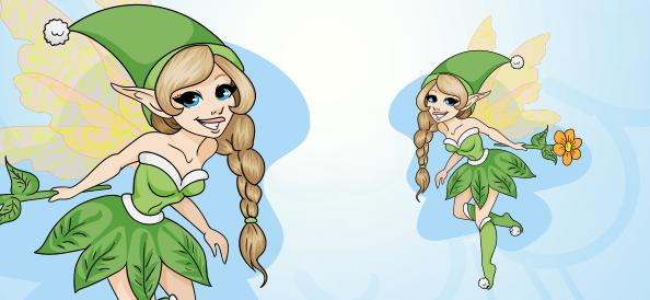 Attractive Vector Fairy