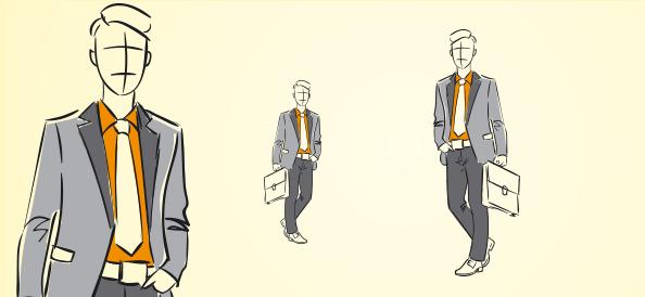 Hand-Drawn Businessman Vector