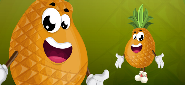 Cartoon Pineapple Character