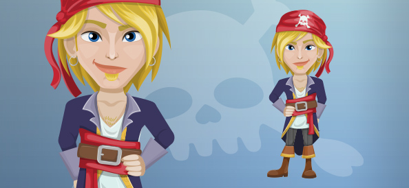 Handsome Blond Male Pirate