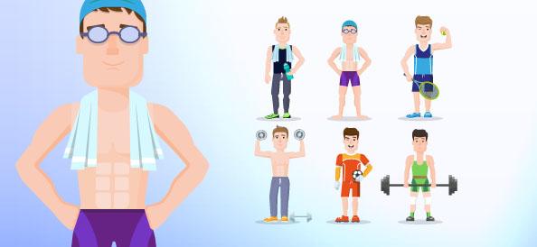 Vector Sport Character Set