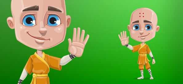 Boy Monk Vector Character
