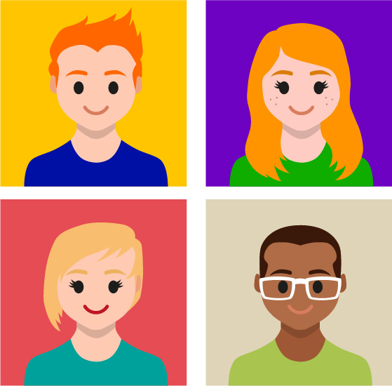 Modern Flat Avatars Pack