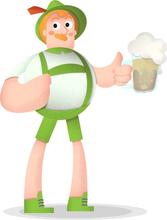 Oktoberfest Man Vector Character