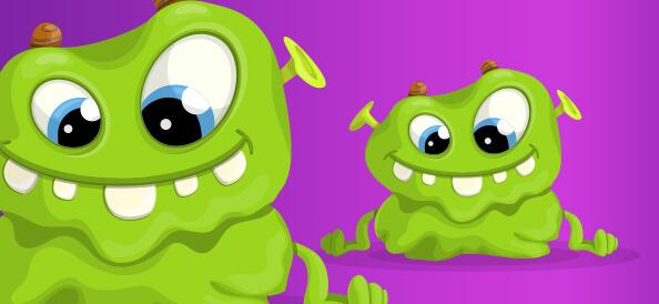 Green Monster Vector Character