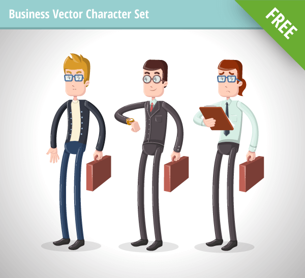 Business Vector Character Set free