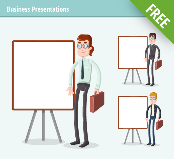 business presentation character free