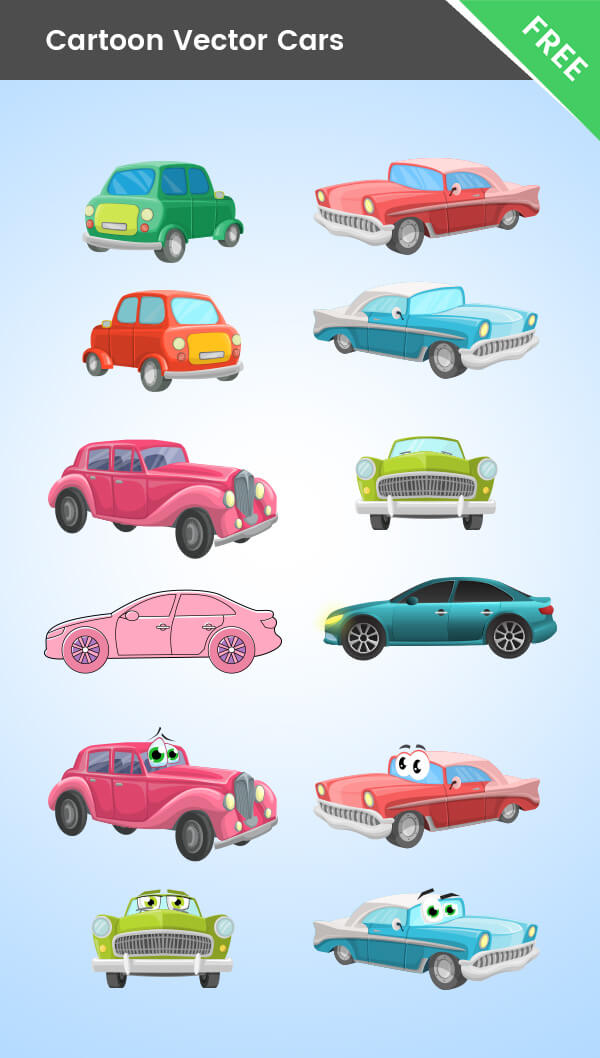 Free Cartoon Cars Mega Collection