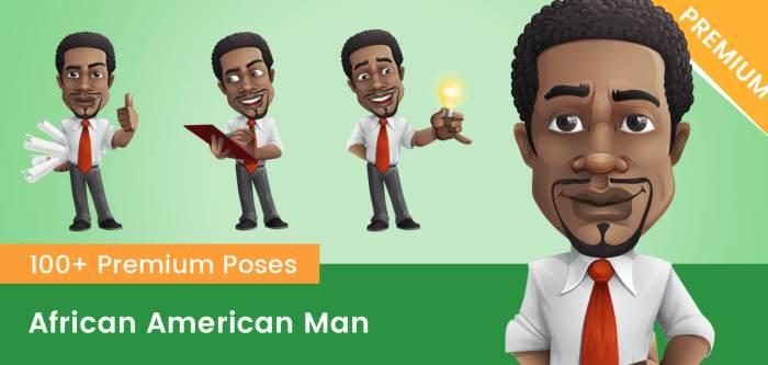 African American Man Vector