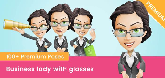 Business Lady With Glasses