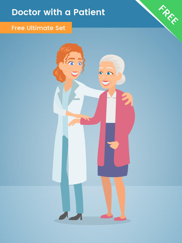 Doctor with a Patient clipart png