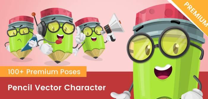 Pencil Vector Character