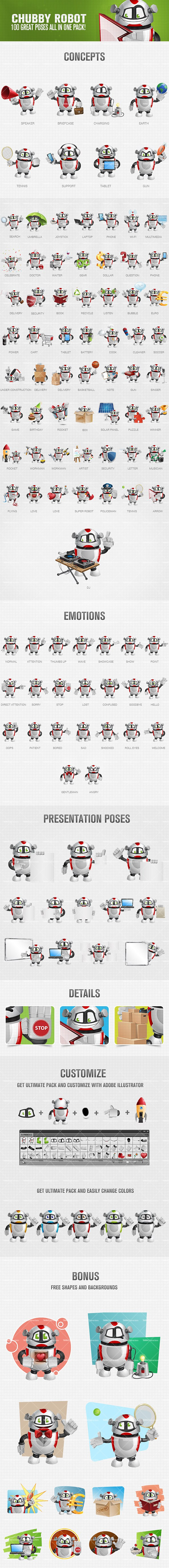 Robotic Cartoon Vector