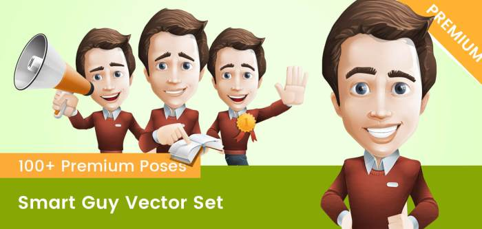 Smart Guy Vector Set