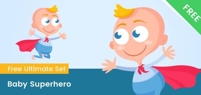 Baby Superhero Clipart