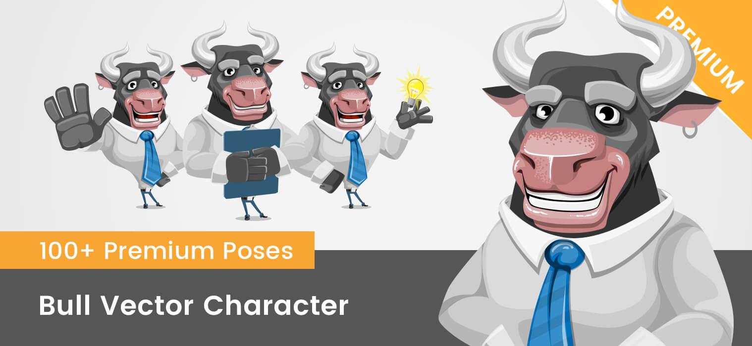 Bull Vector Character
