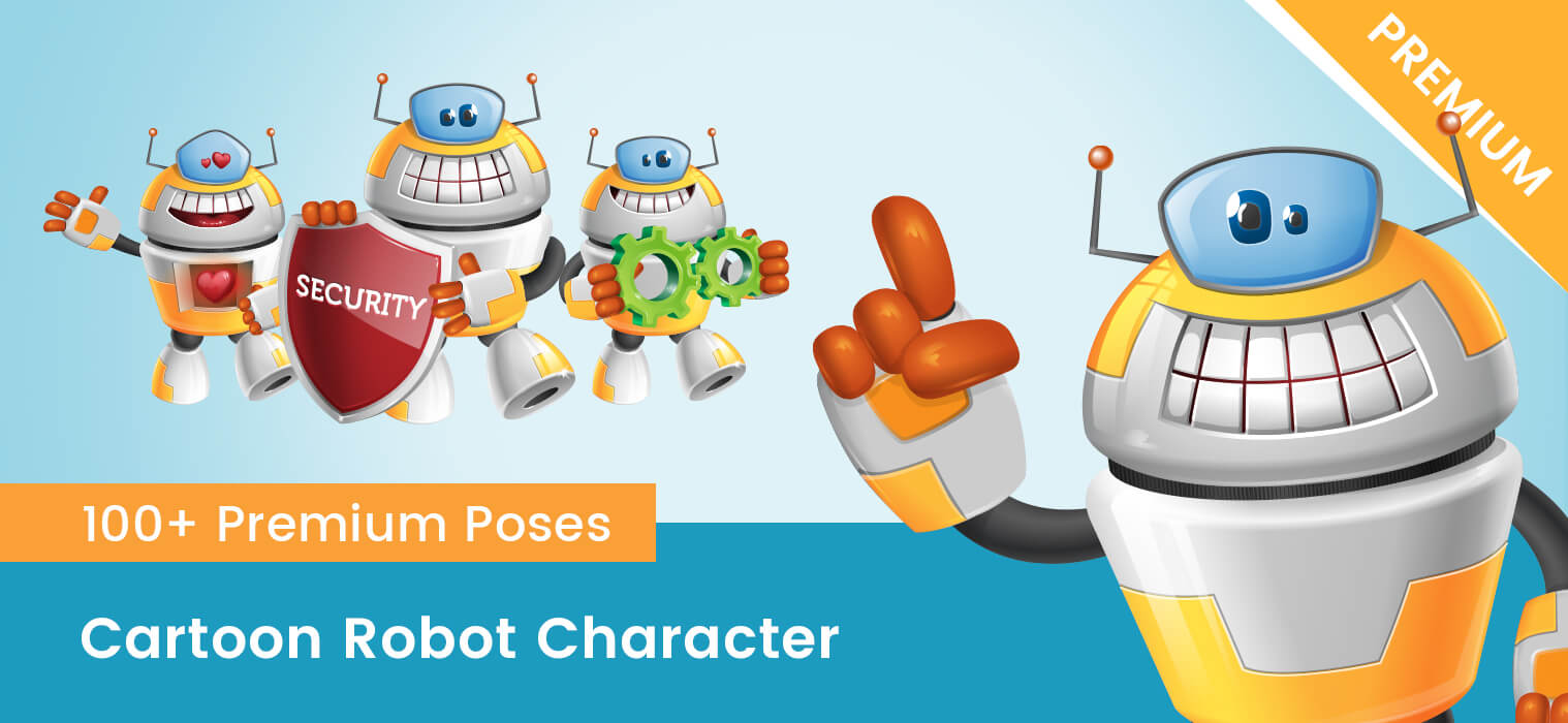 Cartoon Robot Character