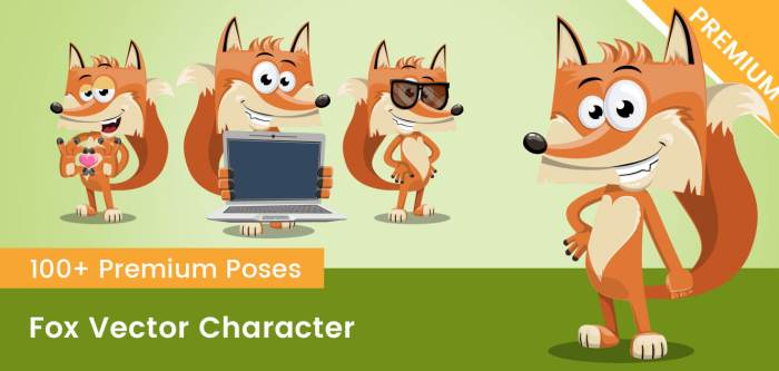 Fox Vector Character