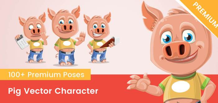 Pig Vector Character